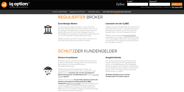 iq option Regulierung