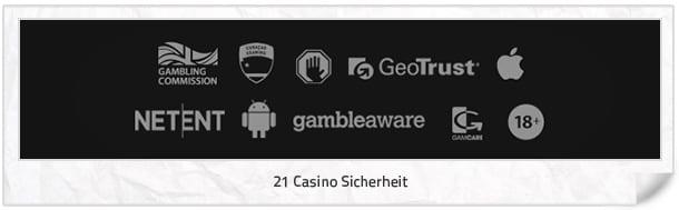 21 Casino Sicherheit