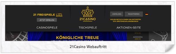 21 Casino Webseite