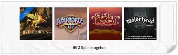 BGO Casino Spielangebot