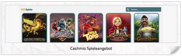Cashmio Casino Spielangebot