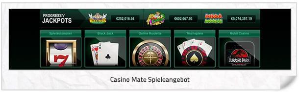 Casino Mate Spielangebot