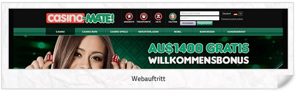 Casino Mate Webseite