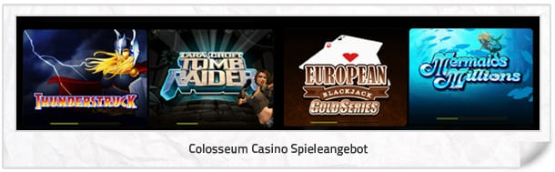 Colosseum Casino Spielangebot