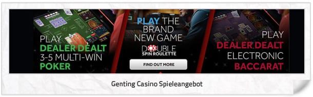 Genting Casino Spielangebot