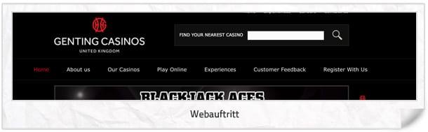 Genting Casino Webseite