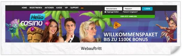 Hello Casino Webseite
