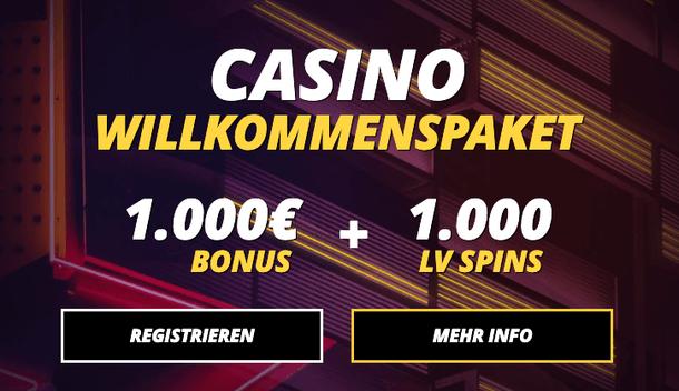 LV BET Casino Willkommensbonus