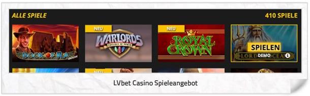 LVbet Casino Spielangebot