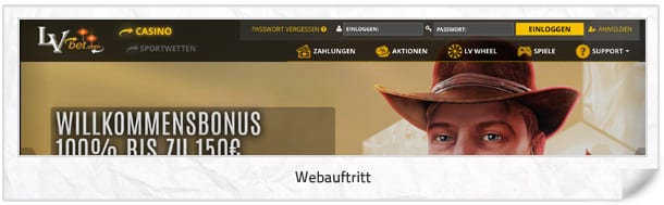 LVbet Casino Webseite