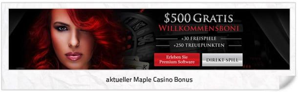 Maple Casino Bonus