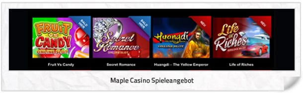Maple Casino Spielangebot