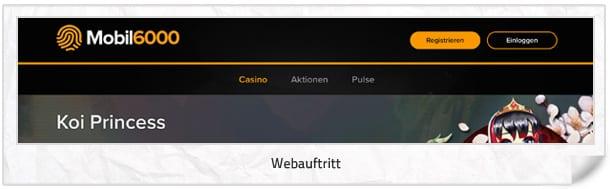 Mobil6000 Casino Webseite