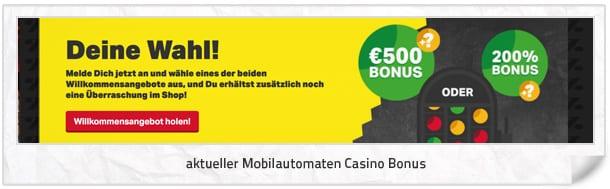 Mobilautomaten Casino Bonus
