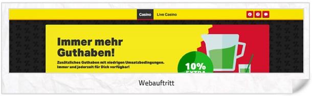 Mobilautomaten Casino Webseite