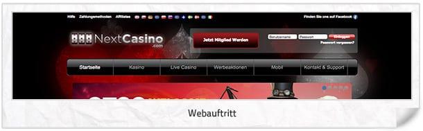 Next Casino Webseite
