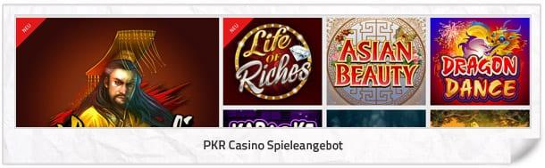 PKR Casino Spielangebot