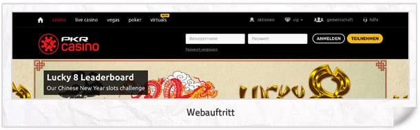 PKR Casino Webseite