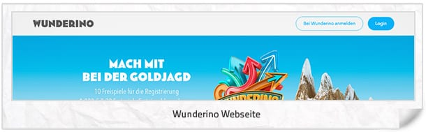 Webseite Wunderino Casino