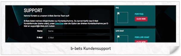 b-bets Kundensupport