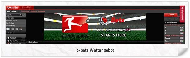 b-bets Wettangebot