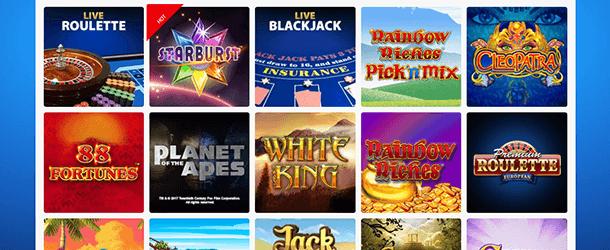 BGO Casino Spieleangebot