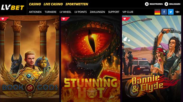 LV Bet Casino Lobby