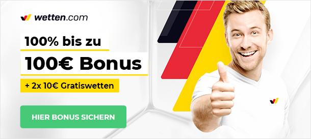 Wetten.com Sportwetten Bonus
