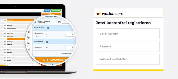 Wetten.com Registrierung