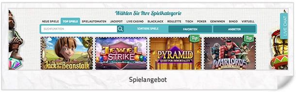 SpinStation Casino Spielangebot