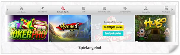 Spinit Casino Spielangebot