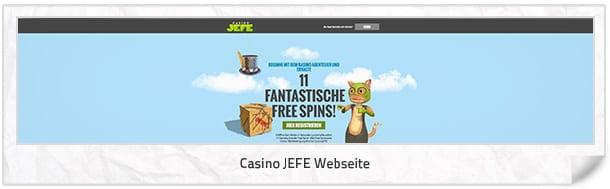 Casino JEFE Webseite