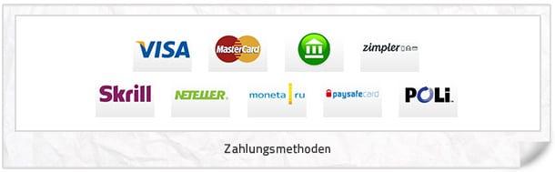 Casino JEFE Zahlungsmethoden