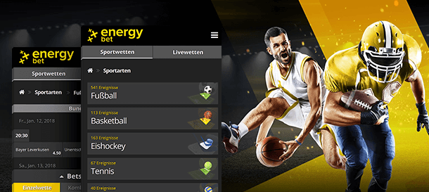 Energybet Mobile Sportwetten