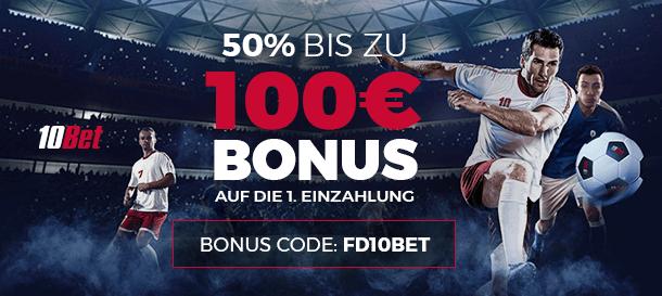 10Bet Bonus mit Code
