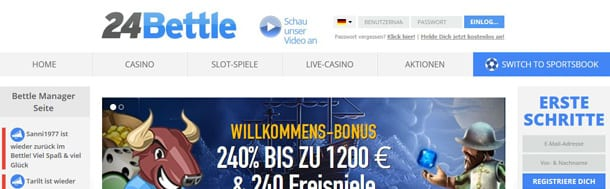 Online Casino von 24Bettle