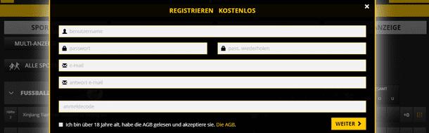 LVBet Registrierung