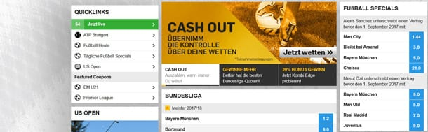 betfair Website Überblick