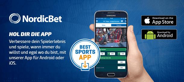 NordicBet Sportwetten App