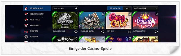 10bet Casino Spiele