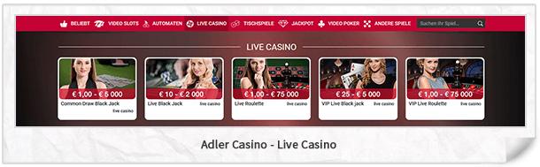 Adler Casino Live-Casino
