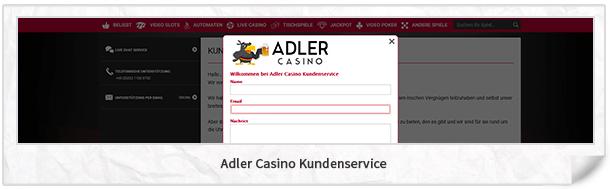 Adler Casino Kundenservice