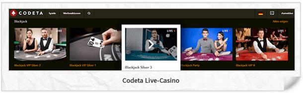 Codeta Casino Live-Casino