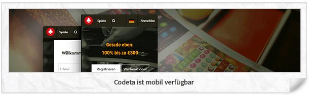 Codeta Casino mobile App