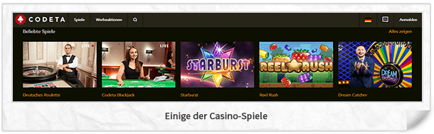 Codeta Casino Spiele