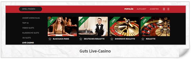 Gut Casino Live-Casino
