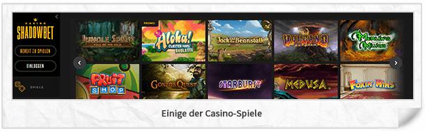 Shadowbet Casino Spiele