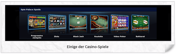 Spin Palace Casino Spiele