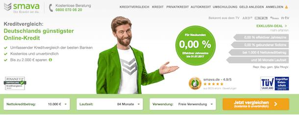 smava Erfahrungen Kreditnehmer: Die smava Webseite aus Sicht der Kunden.