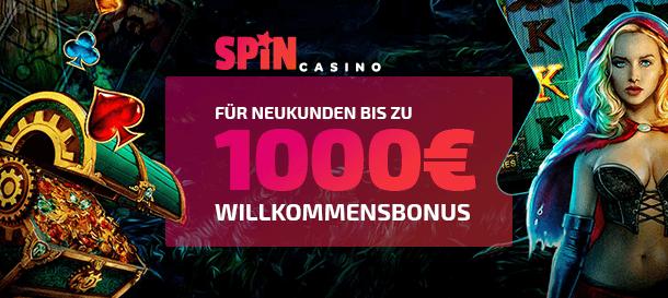 Spin Casino Bonus für Neukunden